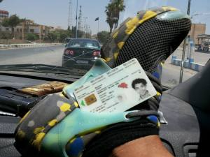 Belgian ID card of Jejoen Bontinck, shown as a trophy by a former fellow fighter after Bontinck had left Syria last year