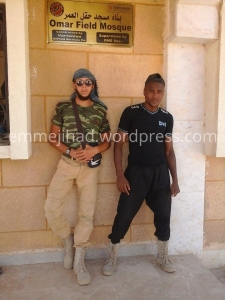 Olivier Calebout and Lucas Van Hessche, Belgian member of Islamic State in Deir ez-Zor, Syria.