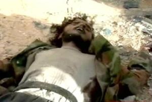 Picture of slain fighter in Syria, thought to be Islamic State's Aleppo security chief Abu Ubaida al-Maghribi