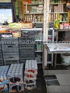 Showing the abundance of food in a local store in ar-Raqqah