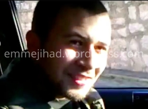 Belgian fighter Elias Taketloune in a recently distributed video from Syria