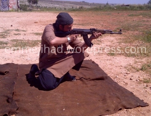 Belgian IS fighter Hicham Chaïb in a picture from Syria published in October