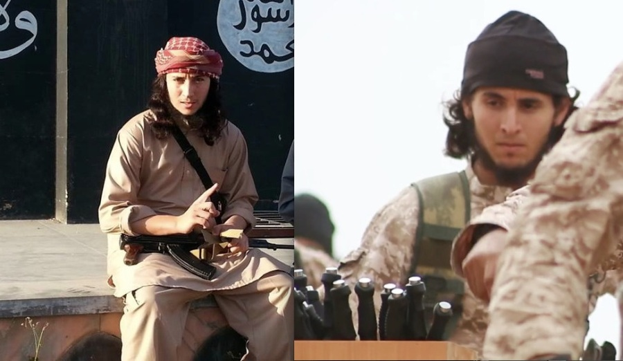 Abdelmajid Gharmaoui in ar-Raqqah in June, 2014 (left) and supposedly in the Kassig beheading video (right)