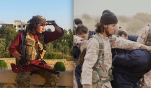 Abdelmajid Gharmaoui near Aleppo in July, 2013 (left) and supposedly in the Kassig beheading video (right)