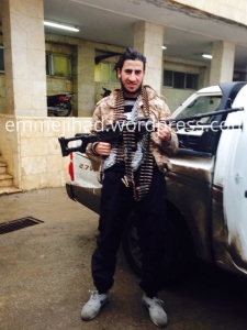 IS fighter 'Abou Shaheed' from the Belgian town of Maaseik, shortly after his arrival in Syria in December 2014.