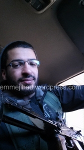 Dniel Mahi in Syria on a Facebook picture posted on the 26th of February 2014